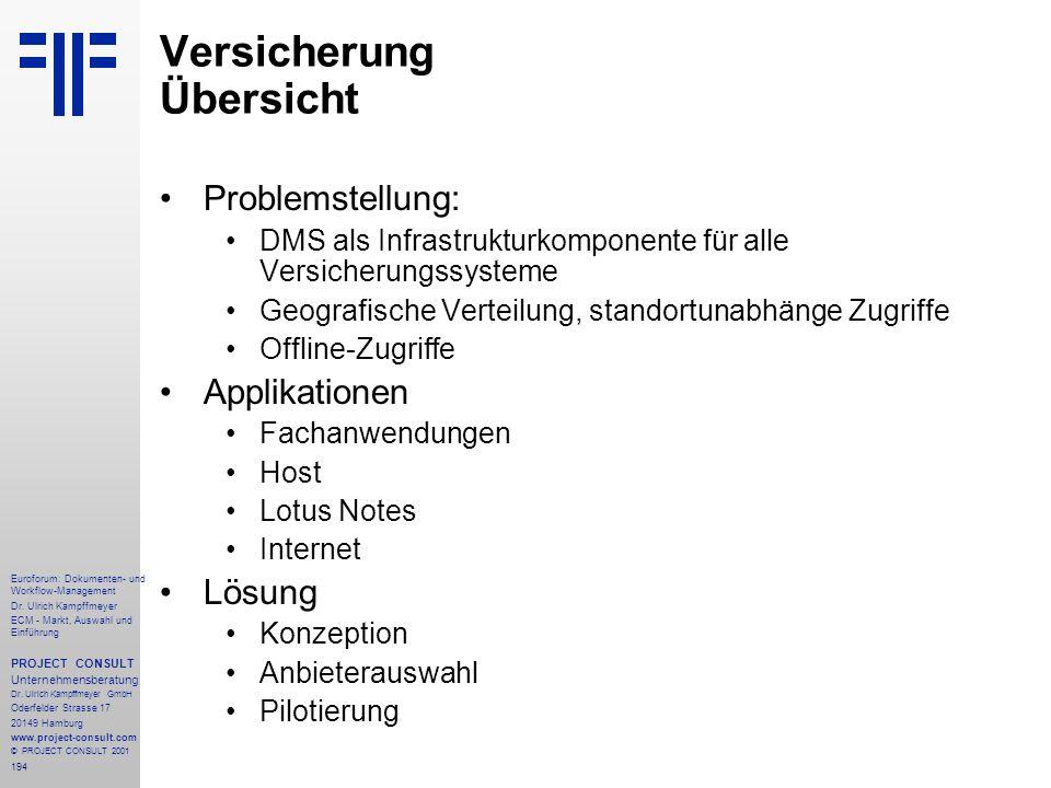 194 Euroforum: Dokumenten- und Workflow-Management Dr.