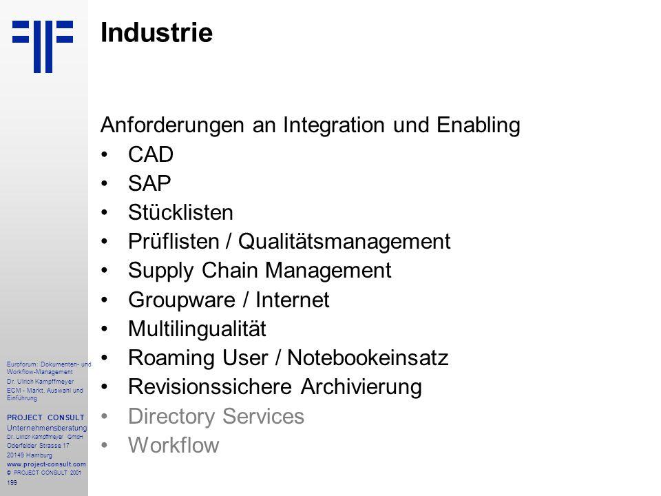 199 Euroforum: Dokumenten- und Workflow-Management Dr.