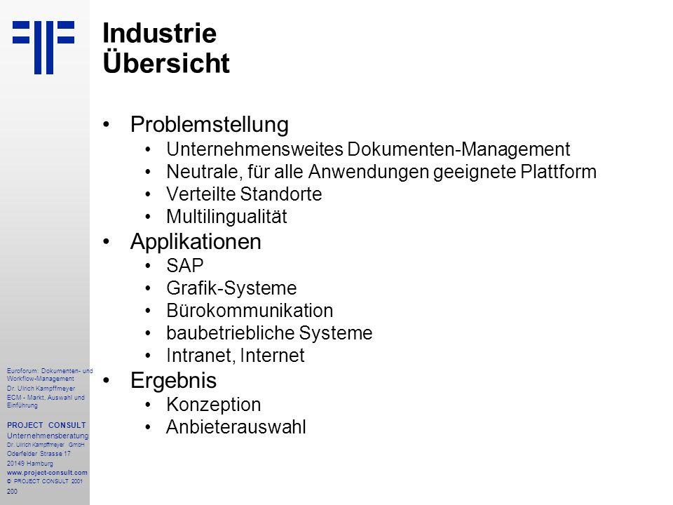 200 Euroforum: Dokumenten- und Workflow-Management Dr.