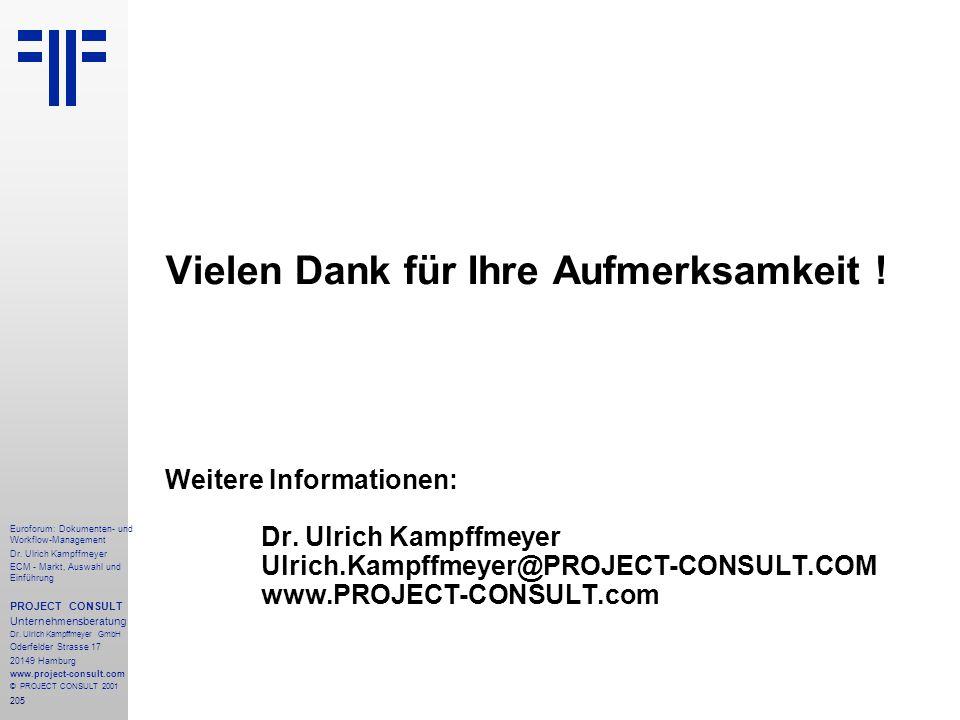 205 Euroforum: Dokumenten- und Workflow-Management Dr.