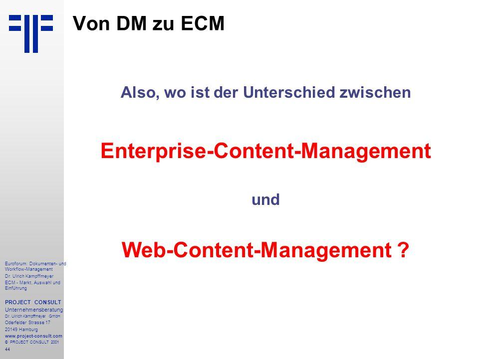 44 Euroforum: Dokumenten- und Workflow-Management Dr.