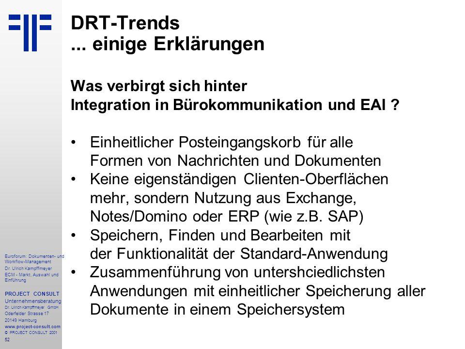 52 Euroforum: Dokumenten- und Workflow-Management Dr.