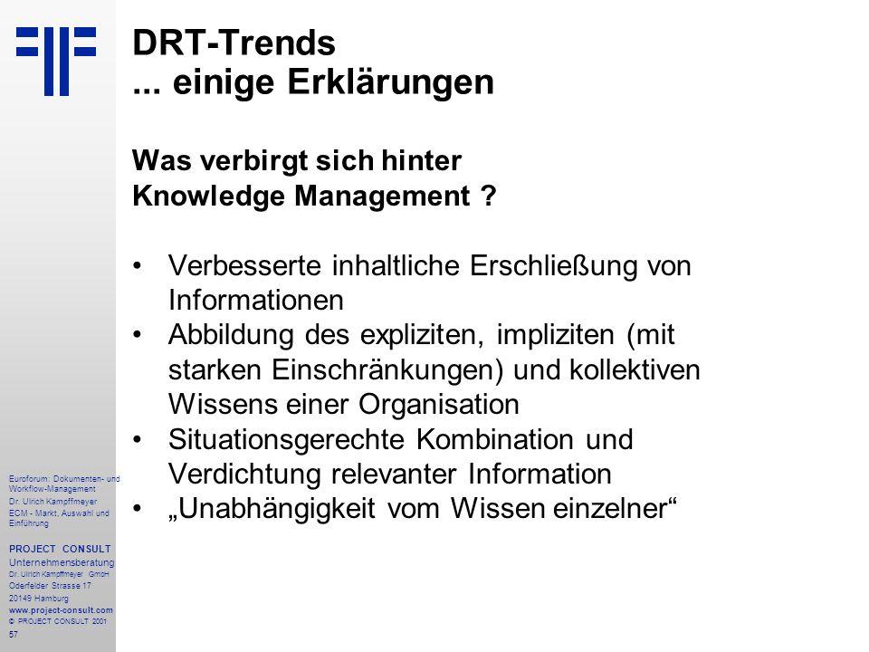 57 Euroforum: Dokumenten- und Workflow-Management Dr.