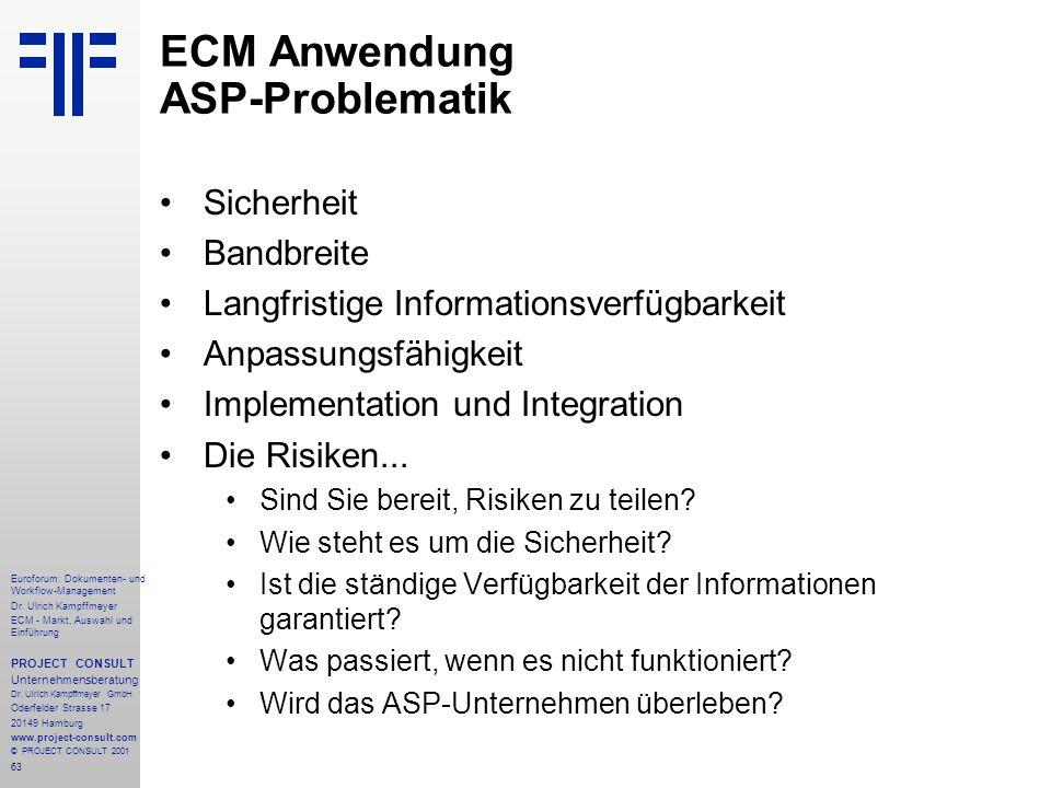 63 Euroforum: Dokumenten- und Workflow-Management Dr.