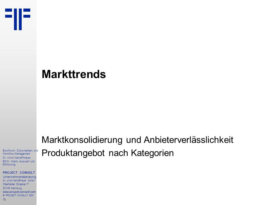 78 Euroforum: Dokumenten- und Workflow-Management Dr.