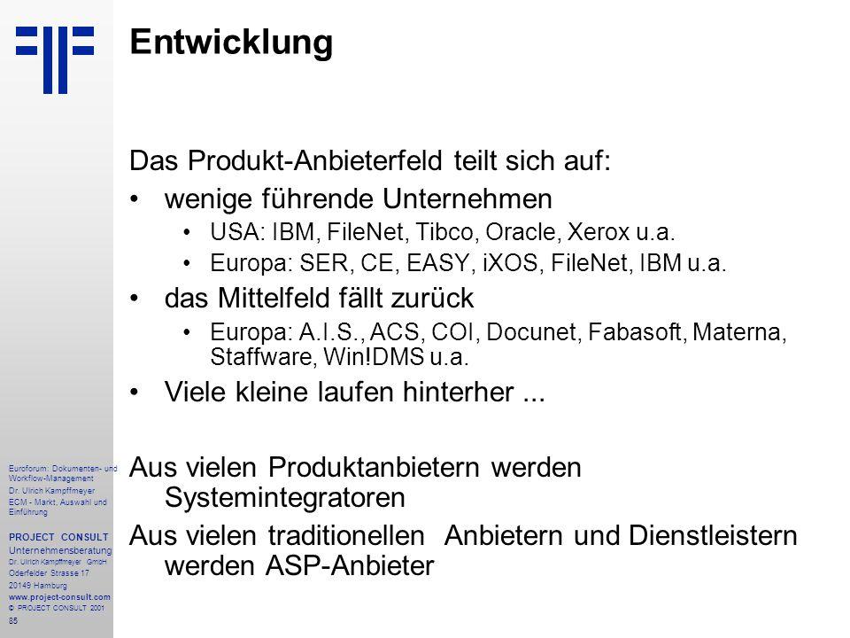 85 Euroforum: Dokumenten- und Workflow-Management Dr.