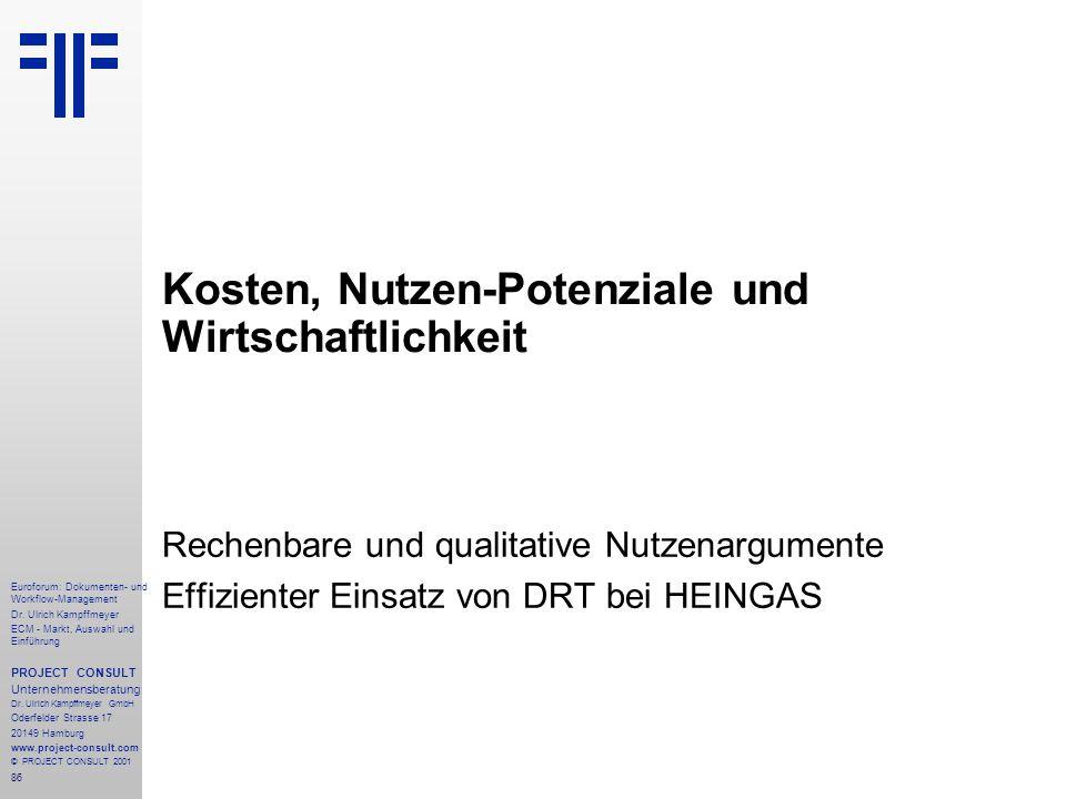 86 Euroforum: Dokumenten- und Workflow-Management Dr.