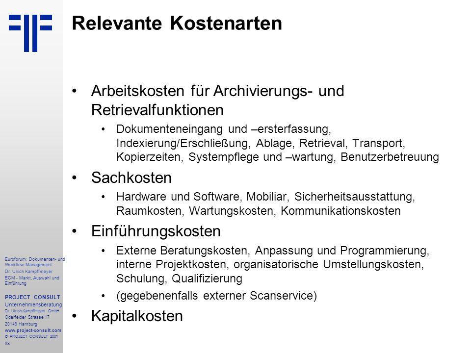 88 Euroforum: Dokumenten- und Workflow-Management Dr.
