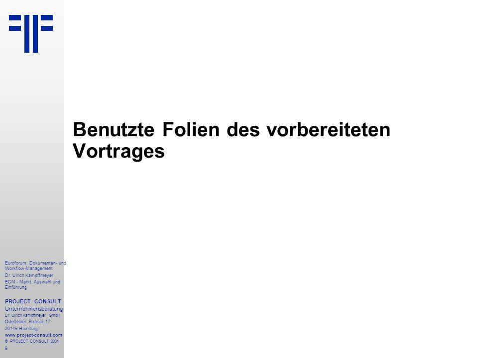 9 Euroforum: Dokumenten- und Workflow-Management Dr.