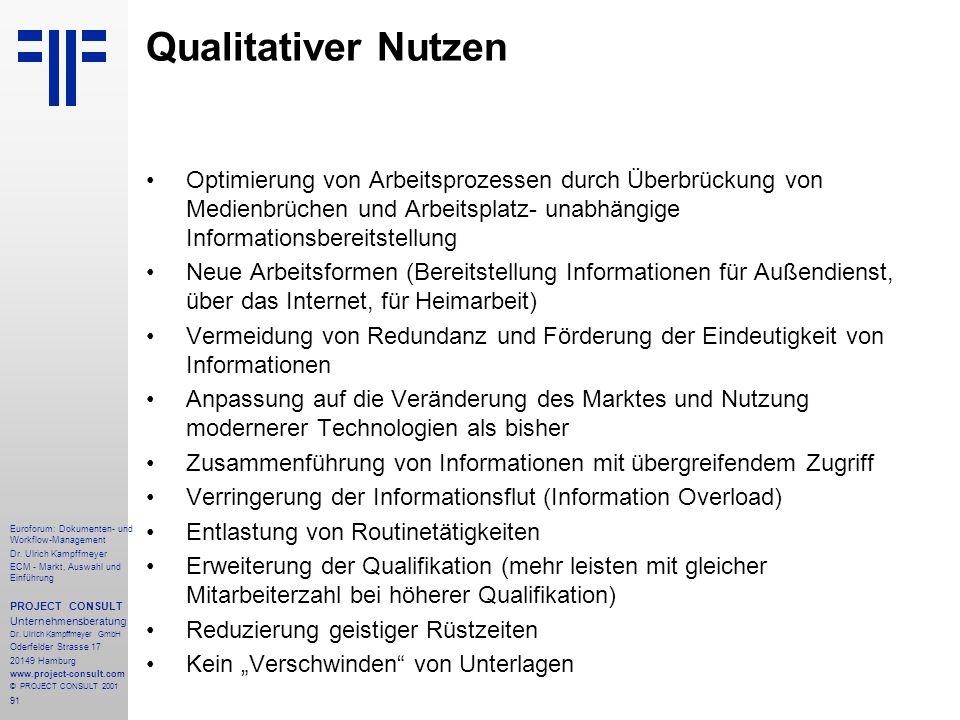 91 Euroforum: Dokumenten- und Workflow-Management Dr.