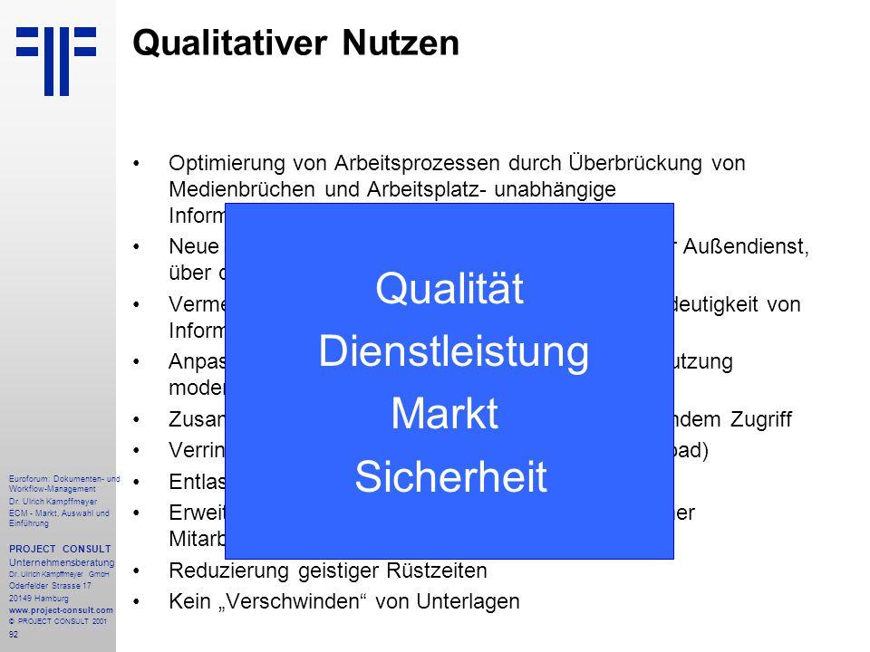 92 Euroforum: Dokumenten- und Workflow-Management Dr.