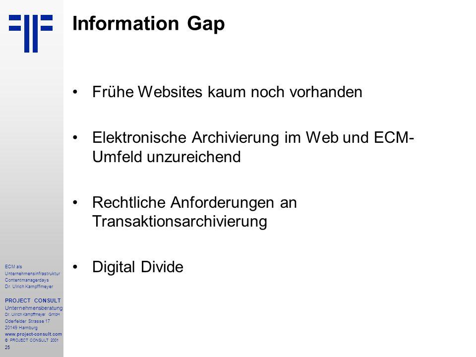 25 ECM als Unternehmensinfrastruktur Contentmanagerdays Dr.