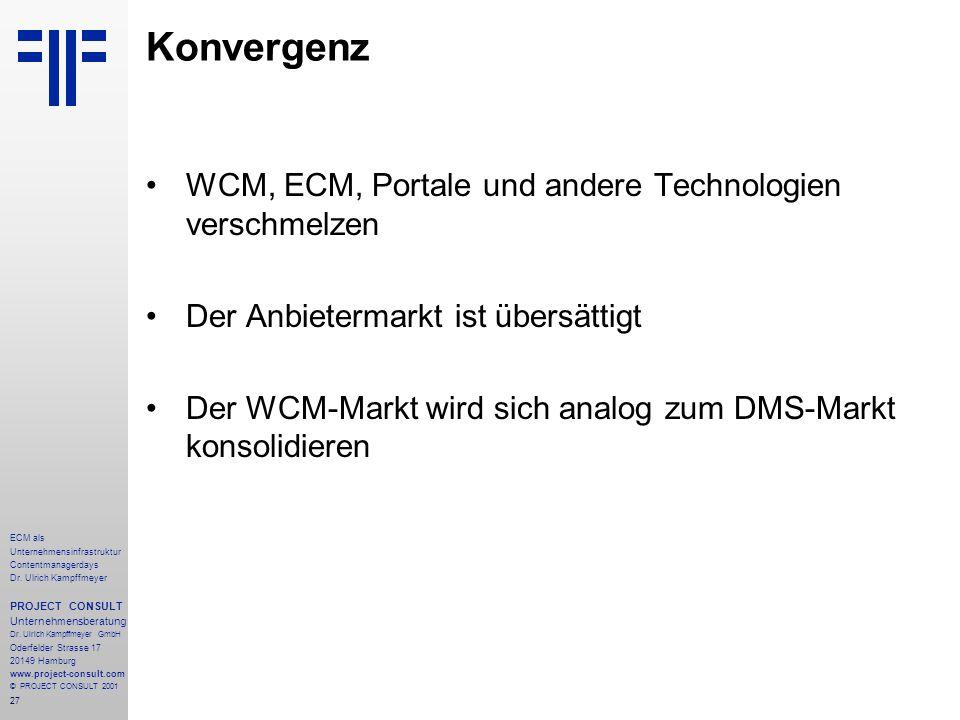 27 ECM als Unternehmensinfrastruktur Contentmanagerdays Dr.