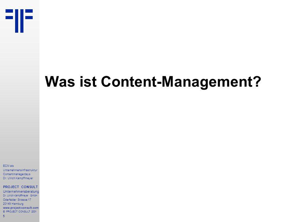 5 ECM als Unternehmensinfrastruktur Contentmanagerdays Dr.