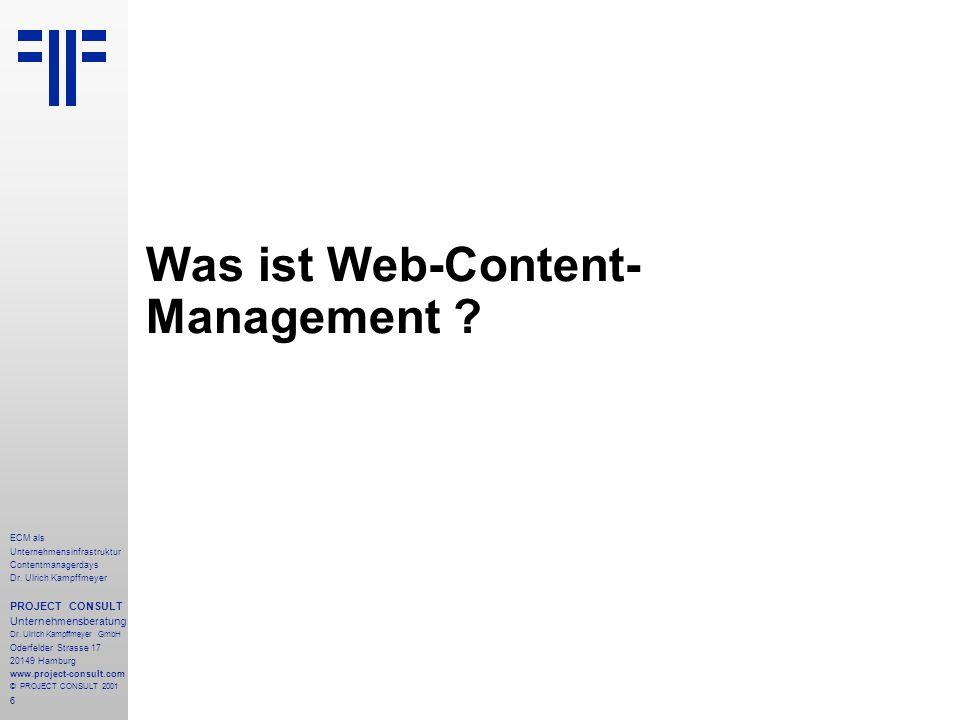 6 ECM als Unternehmensinfrastruktur Contentmanagerdays Dr.