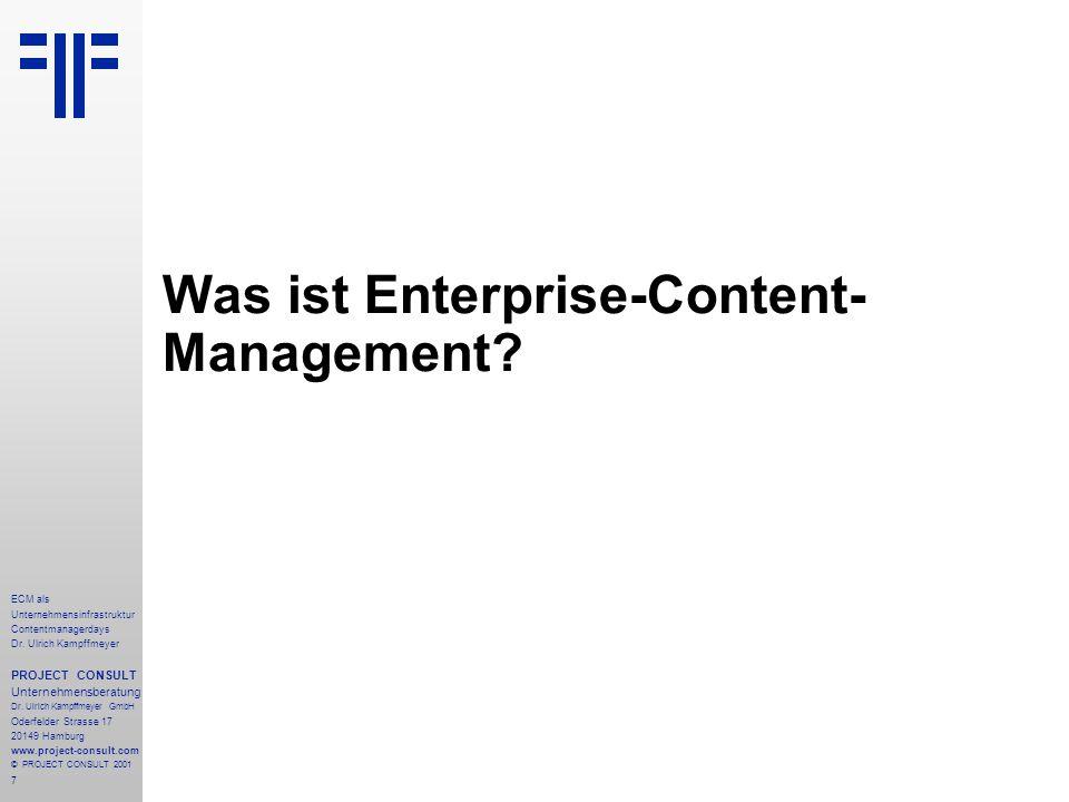 7 ECM als Unternehmensinfrastruktur Contentmanagerdays Dr.