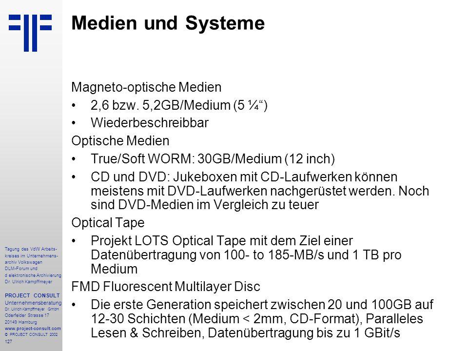 127 Tagung des VdW Arbeits- kreises im Unternehmens- archiv Volkswagen DLM-Forum und d elektronische Archivierung Dr.