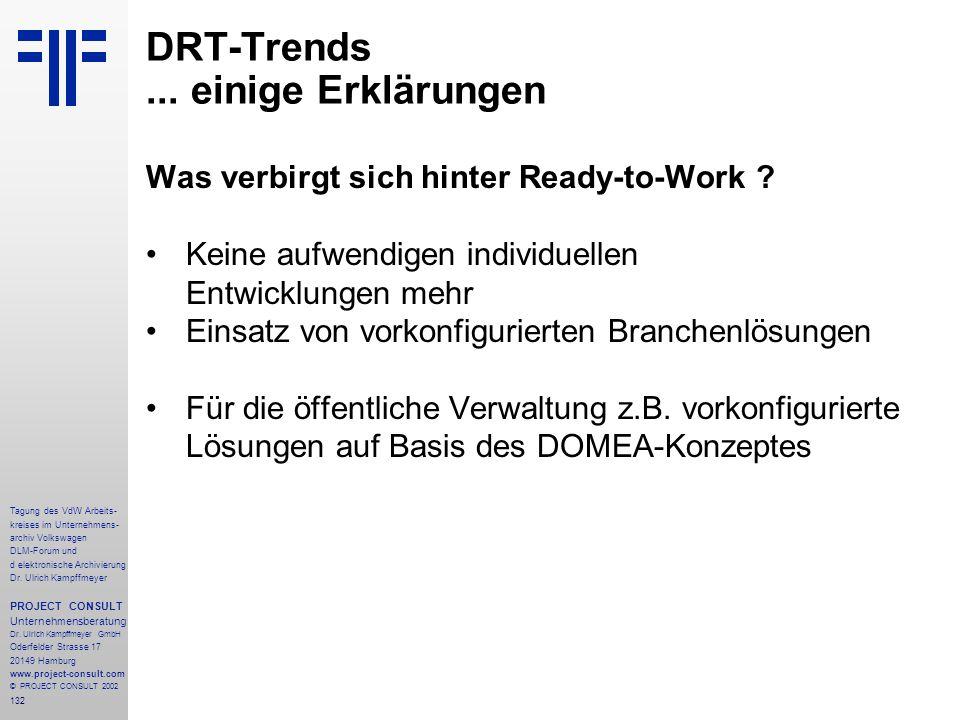 132 Tagung des VdW Arbeits- kreises im Unternehmens- archiv Volkswagen DLM-Forum und d elektronische Archivierung Dr.