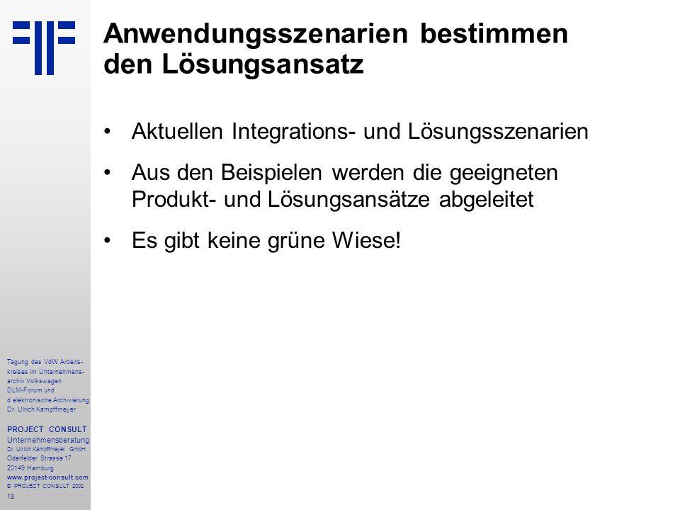18 Tagung des VdW Arbeits- kreises im Unternehmens- archiv Volkswagen DLM-Forum und d elektronische Archivierung Dr.