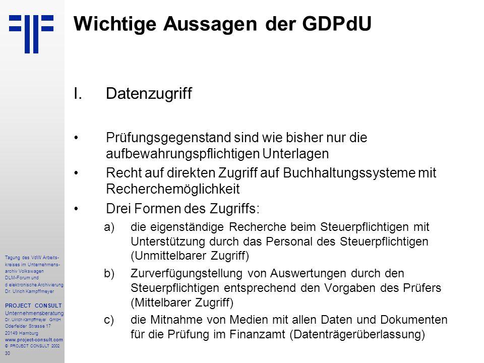 30 Tagung des VdW Arbeits- kreises im Unternehmens- archiv Volkswagen DLM-Forum und d elektronische Archivierung Dr.