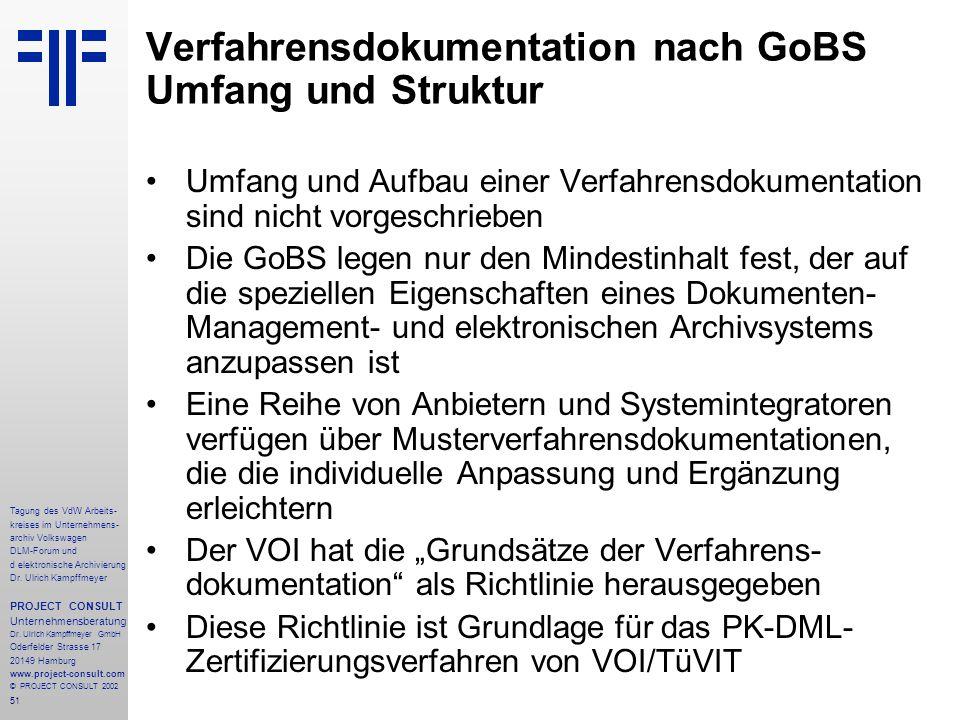 51 Tagung des VdW Arbeits- kreises im Unternehmens- archiv Volkswagen DLM-Forum und d elektronische Archivierung Dr.