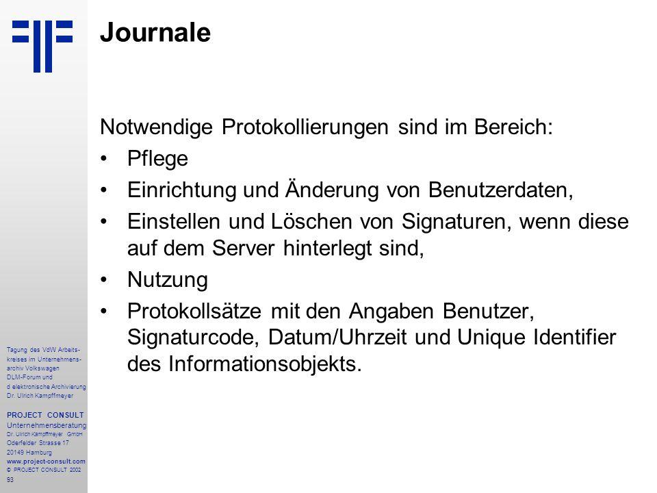93 Tagung des VdW Arbeits- kreises im Unternehmens- archiv Volkswagen DLM-Forum und d elektronische Archivierung Dr.