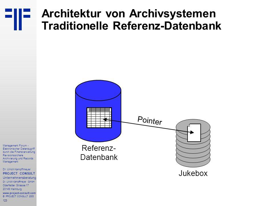 123 Management Forum - Elektronischer Datenzugriff durch die Finanzverwaltung Revisionssichere Archivierung und Records Management Dr. Ulrich Kampffme