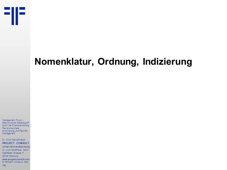 162 Management Forum - Elektronischer Datenzugriff durch die Finanzverwaltung Revisionssichere Archivierung und Records Management Dr. Ulrich Kampffme
