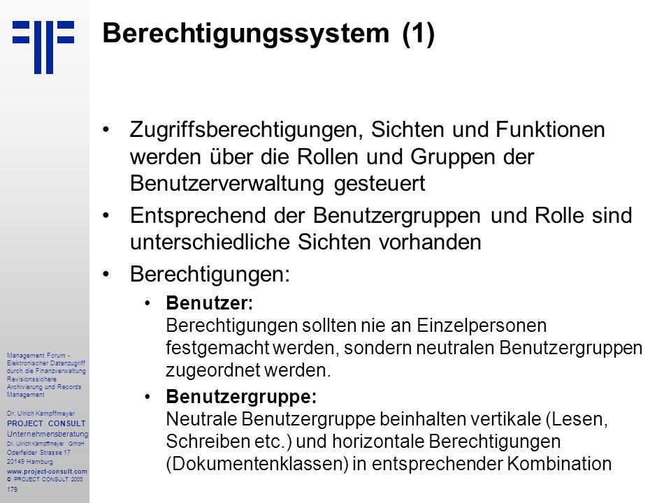 179 Management Forum - Elektronischer Datenzugriff durch die Finanzverwaltung Revisionssichere Archivierung und Records Management Dr. Ulrich Kampffme