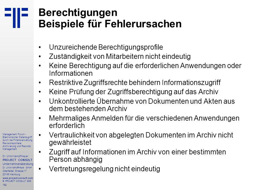192 Management Forum - Elektronischer Datenzugriff durch die Finanzverwaltung Revisionssichere Archivierung und Records Management Dr. Ulrich Kampffme