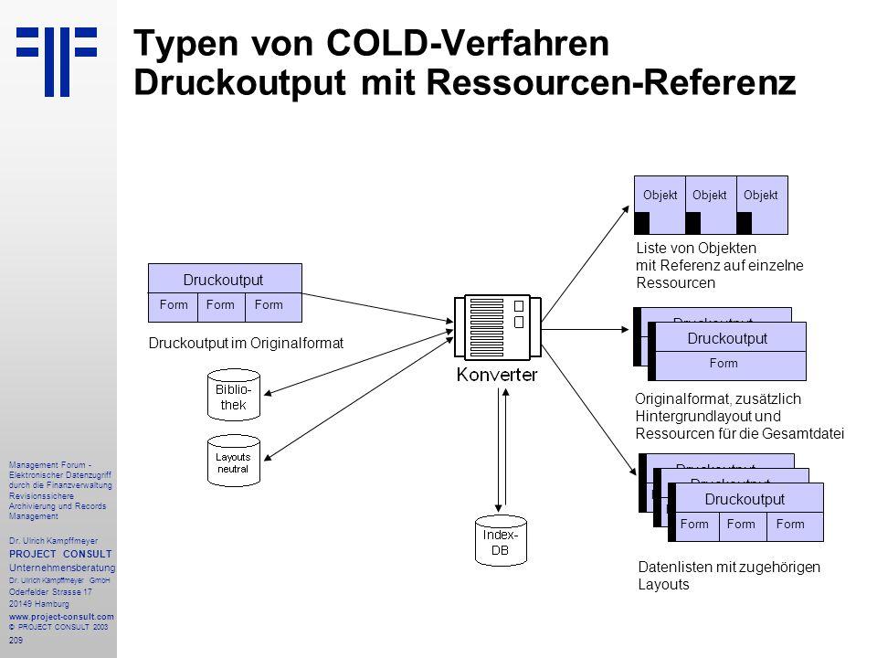 209 Management Forum - Elektronischer Datenzugriff durch die Finanzverwaltung Revisionssichere Archivierung und Records Management Dr. Ulrich Kampffme