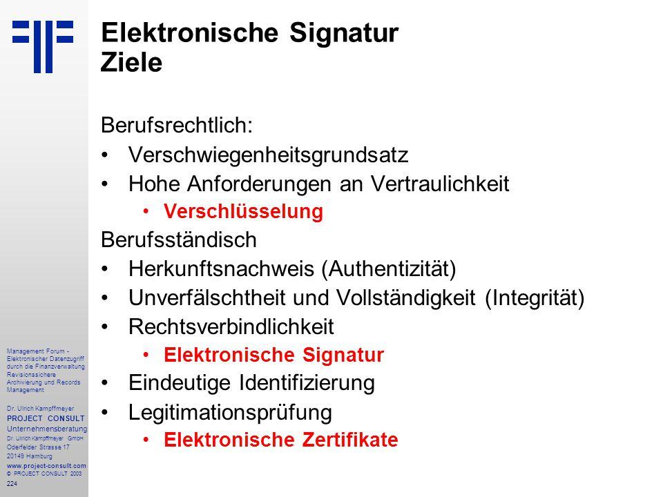 224 Management Forum - Elektronischer Datenzugriff durch die Finanzverwaltung Revisionssichere Archivierung und Records Management Dr. Ulrich Kampffme
