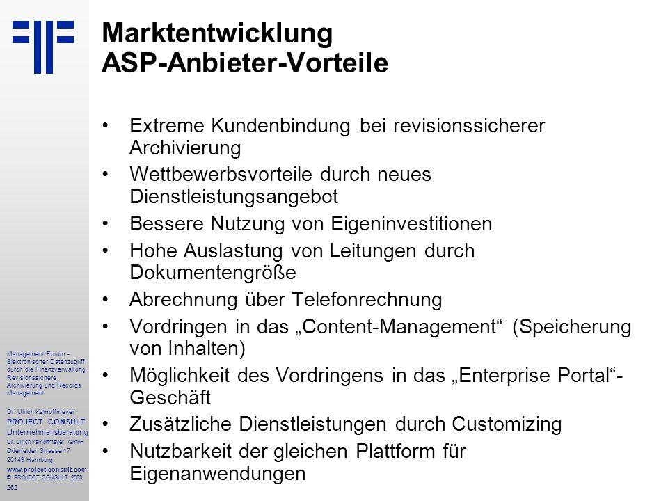 262 Management Forum - Elektronischer Datenzugriff durch die Finanzverwaltung Revisionssichere Archivierung und Records Management Dr. Ulrich Kampffme