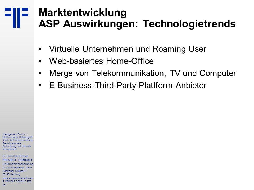 267 Management Forum - Elektronischer Datenzugriff durch die Finanzverwaltung Revisionssichere Archivierung und Records Management Dr. Ulrich Kampffme