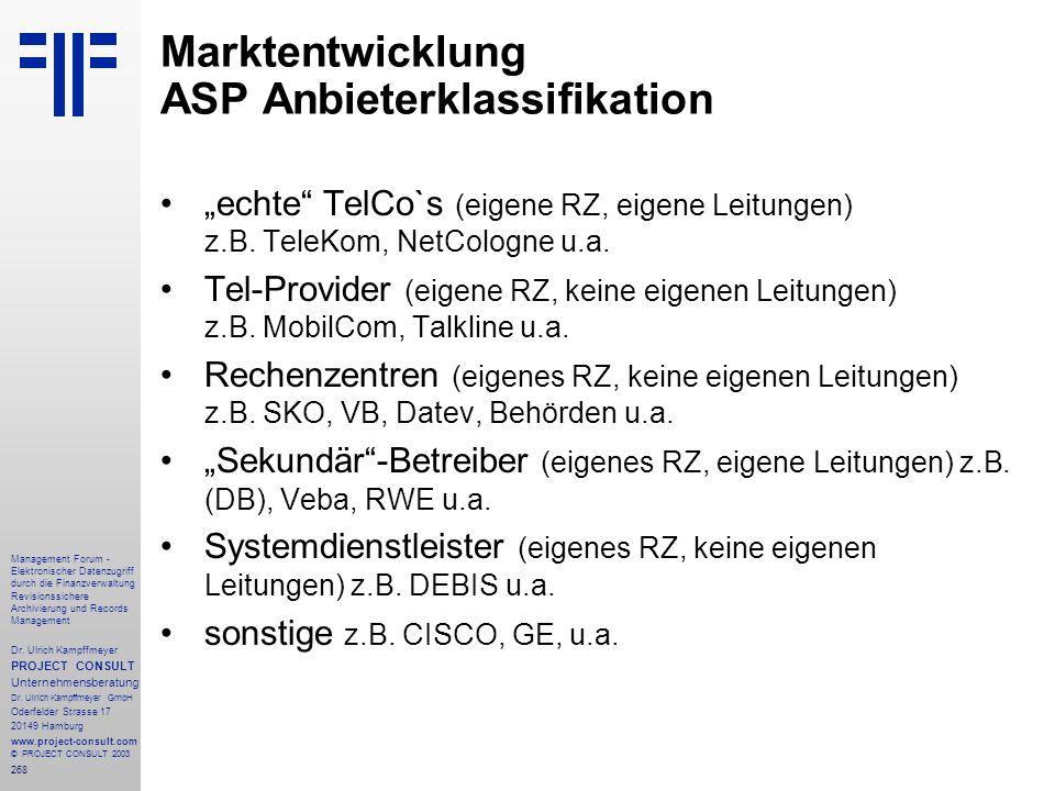 268 Management Forum - Elektronischer Datenzugriff durch die Finanzverwaltung Revisionssichere Archivierung und Records Management Dr. Ulrich Kampffme