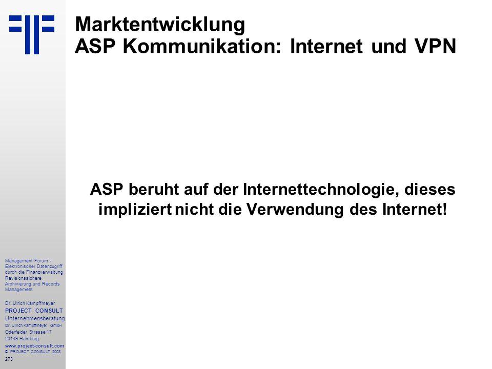 273 Management Forum - Elektronischer Datenzugriff durch die Finanzverwaltung Revisionssichere Archivierung und Records Management Dr. Ulrich Kampffme