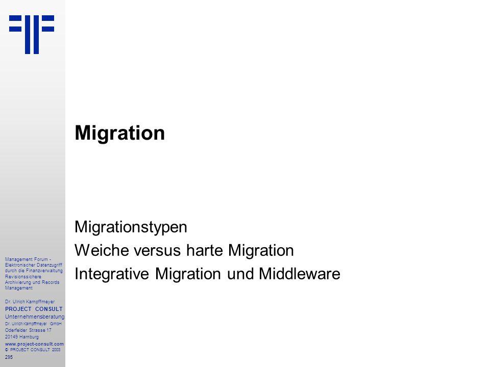 295 Management Forum - Elektronischer Datenzugriff durch die Finanzverwaltung Revisionssichere Archivierung und Records Management Dr. Ulrich Kampffme