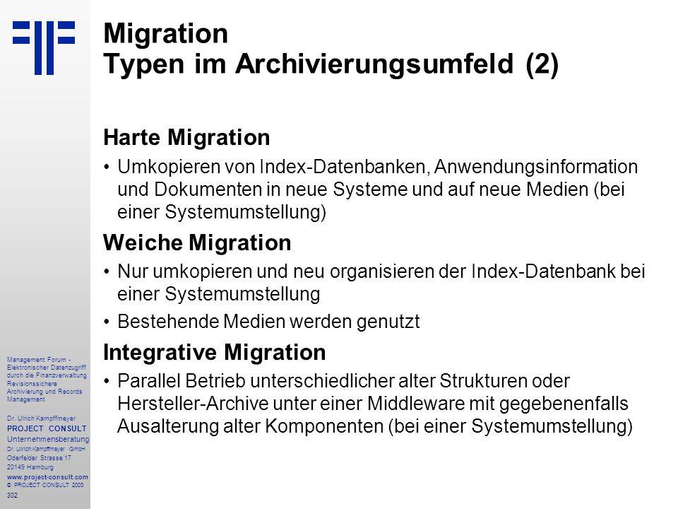 302 Management Forum - Elektronischer Datenzugriff durch die Finanzverwaltung Revisionssichere Archivierung und Records Management Dr. Ulrich Kampffme