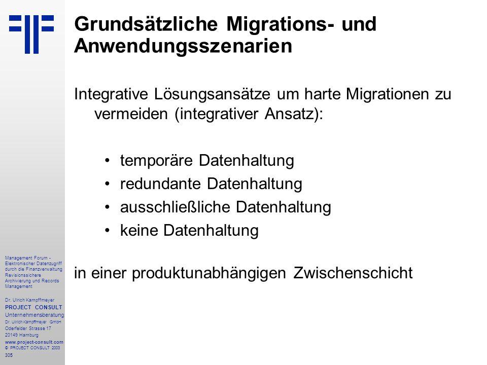 305 Management Forum - Elektronischer Datenzugriff durch die Finanzverwaltung Revisionssichere Archivierung und Records Management Dr. Ulrich Kampffme