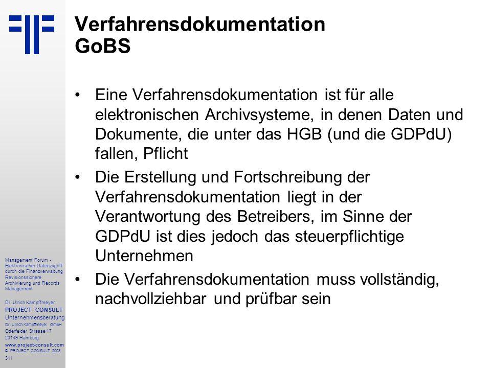 311 Management Forum - Elektronischer Datenzugriff durch die Finanzverwaltung Revisionssichere Archivierung und Records Management Dr. Ulrich Kampffme