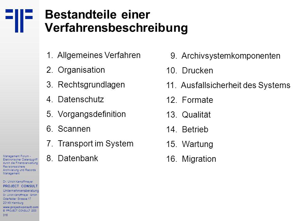 316 Management Forum - Elektronischer Datenzugriff durch die Finanzverwaltung Revisionssichere Archivierung und Records Management Dr. Ulrich Kampffme