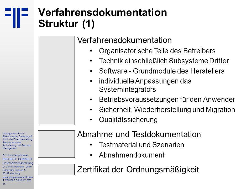 317 Management Forum - Elektronischer Datenzugriff durch die Finanzverwaltung Revisionssichere Archivierung und Records Management Dr. Ulrich Kampffme