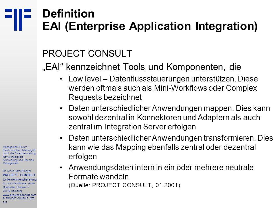 333 Management Forum - Elektronischer Datenzugriff durch die Finanzverwaltung Revisionssichere Archivierung und Records Management Dr. Ulrich Kampffme