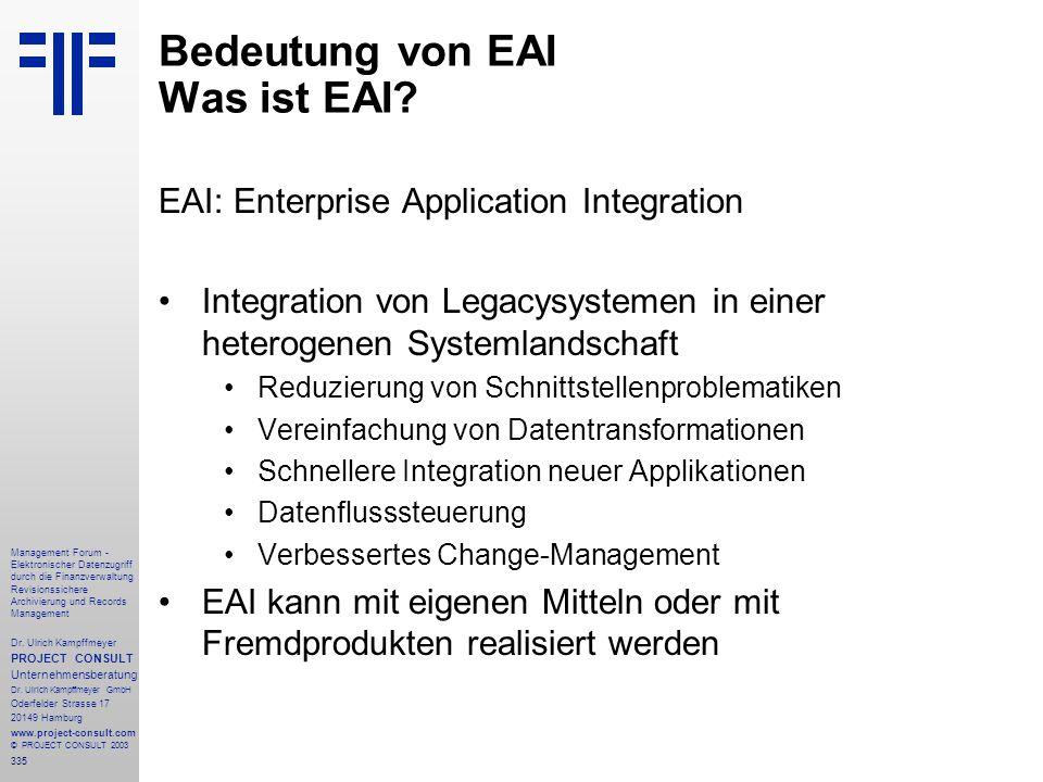 335 Management Forum - Elektronischer Datenzugriff durch die Finanzverwaltung Revisionssichere Archivierung und Records Management Dr. Ulrich Kampffme