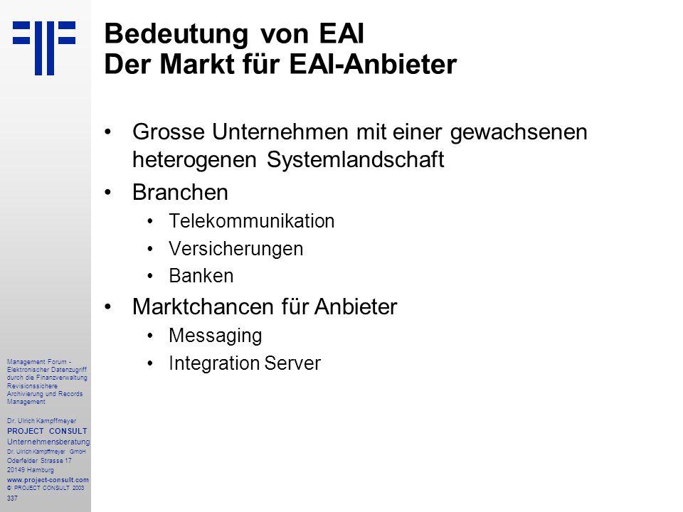 337 Management Forum - Elektronischer Datenzugriff durch die Finanzverwaltung Revisionssichere Archivierung und Records Management Dr. Ulrich Kampffme