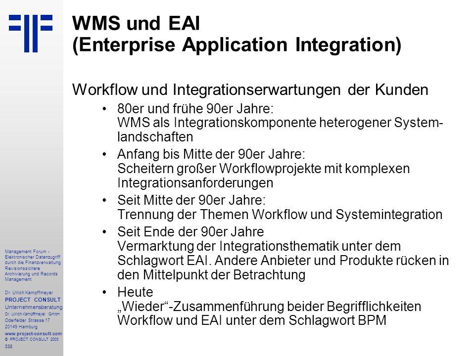 338 Management Forum - Elektronischer Datenzugriff durch die Finanzverwaltung Revisionssichere Archivierung und Records Management Dr. Ulrich Kampffme