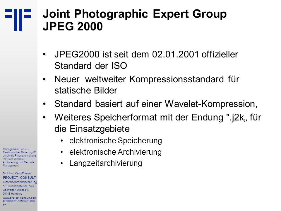 87 Management Forum - Elektronischer Datenzugriff durch die Finanzverwaltung Revisionssichere Archivierung und Records Management Dr. Ulrich Kampffmey