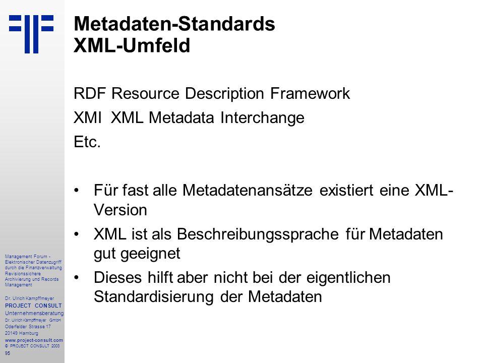 95 Management Forum - Elektronischer Datenzugriff durch die Finanzverwaltung Revisionssichere Archivierung und Records Management Dr. Ulrich Kampffmey