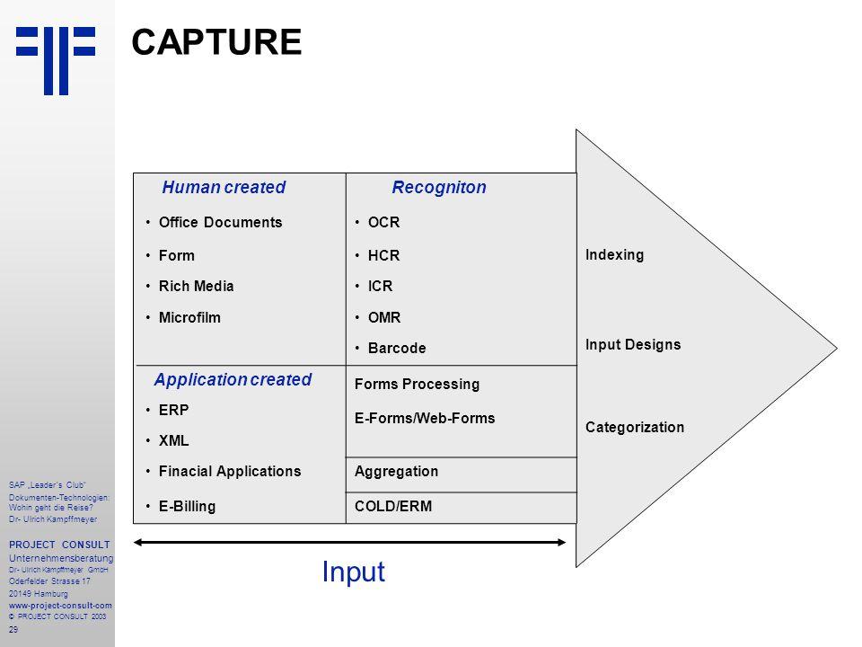 """29 SAP """"Leader´s Club"""" Dokumenten-Technologien: Wohin geht die Reise? Dr- Ulrich Kampffmeyer PROJECT CONSULT Unternehmensberatung Dr- Ulrich Kampffmey"""