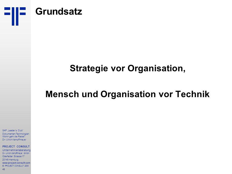 """49 SAP """"Leader´s Club"""" Dokumenten-Technologien: Wohin geht die Reise? Dr- Ulrich Kampffmeyer PROJECT CONSULT Unternehmensberatung Dr- Ulrich Kampffmey"""